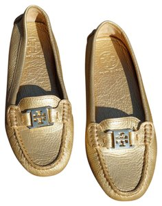 Tory Burch Driving Loafers Gold Flats