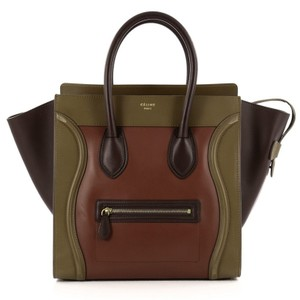 Cline Celine Leather Tote in Green