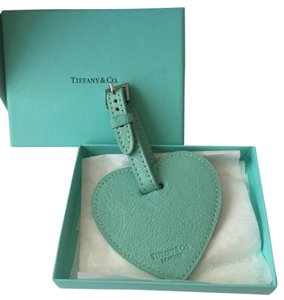 Tiffany & Co. New Tiffany Co Texture Heart Leather Luggage Tag POUCH!