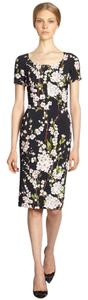 Dolce&Gabbana short dress Black, Pink, White, Green Sheath Floral Classic Sleek on Tradesy