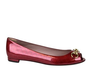 Gucci Jolene Patent Leather Red 6236 Flats