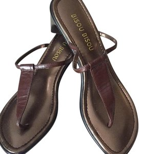 Bisou Bisou Brown and bronze Sandals