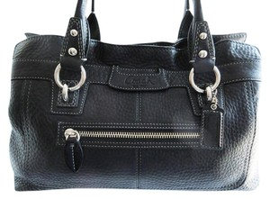 Coach Leather Black New Penelope Shoulder Bag