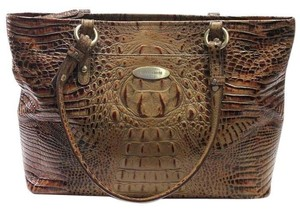 Brahmin Croc Tote in brown