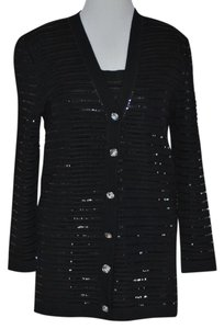 St. John Evening Sequined St Top Black