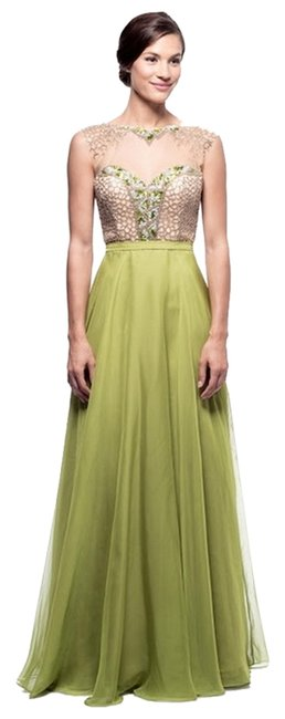 Item - Green Xh14056 Long Formal Dress Size 6 (S)
