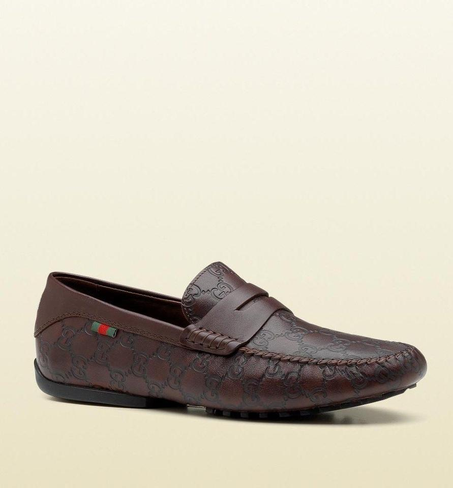 3631291781ff Gucci Dark Brown Guccissima Leather Loafer Moccasin Driver G 6/ Us 6.5  170618 2019 Shoes