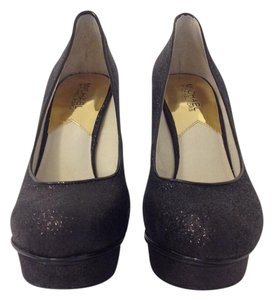 Michael Kors Stiletto Sparkle Glitter Platform black Pumps