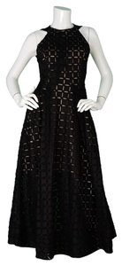 Roland Mouret Eyelet Sleveless Long Dress