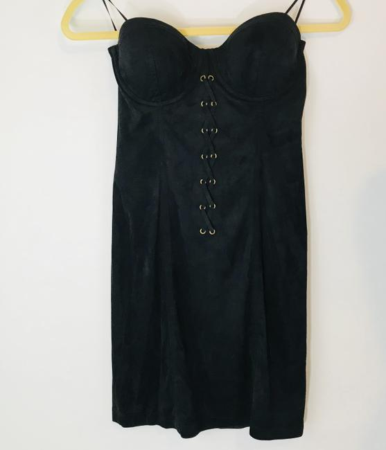 Guess Lbd Party Night Out Suede Clubwear Dress