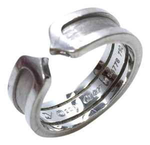 Cartier Cartier 18K White Gold Double C Wedding Band Ring