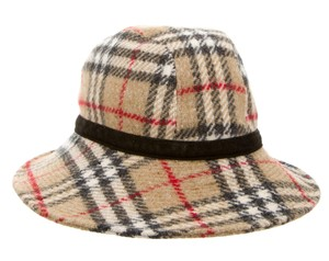 Burberry Tan, black, brown Burberry Nova check wool bucket hat