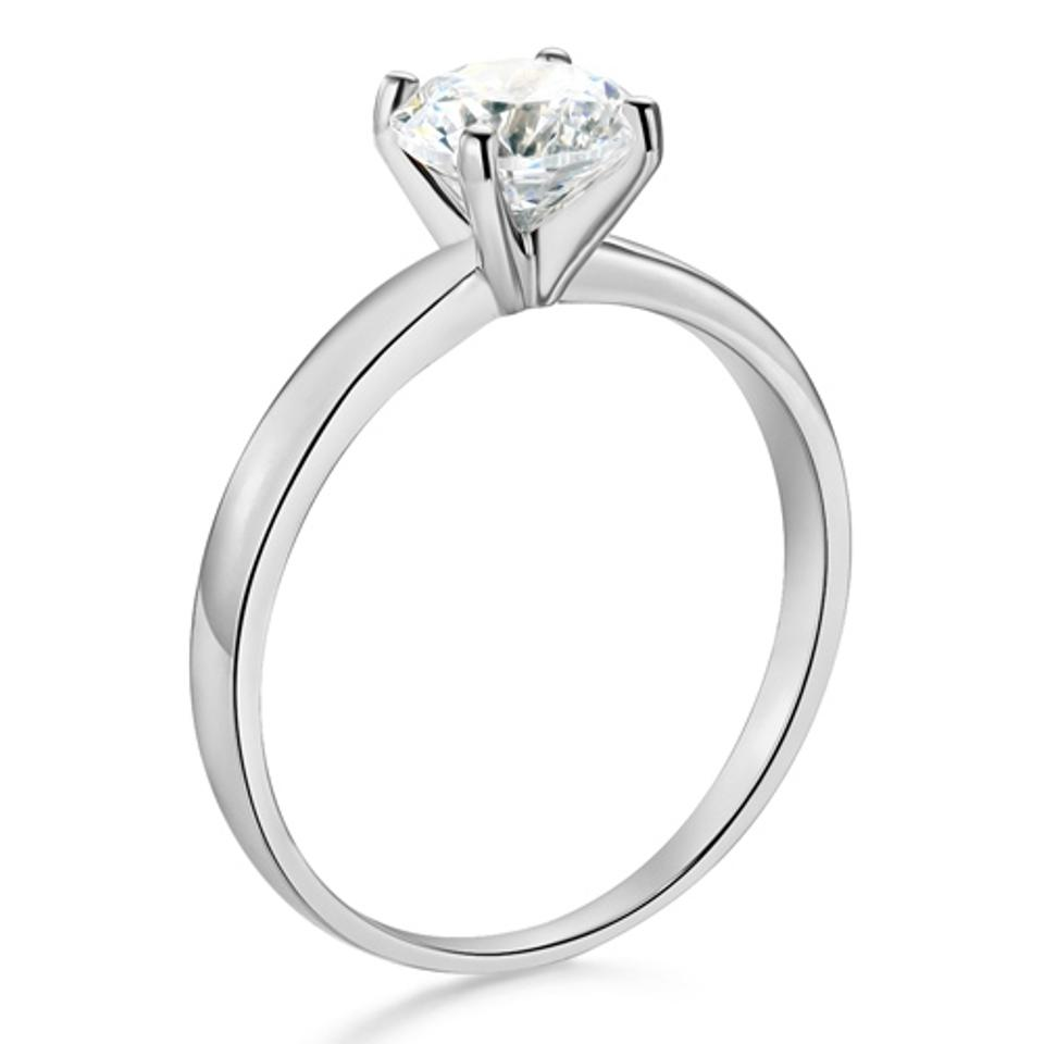 ring band products classic setting solitaire diamond with rings ctw engagement prong