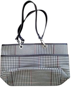 Ralph Lauren Houndstooth Leather Shoulder Bag