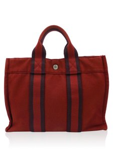 Herms Hermes Tote in Red