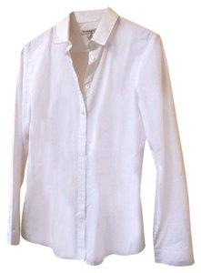 Burberry Boyfriend Button Down Shirt white