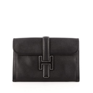 Herms Hermes Leather Clutch
