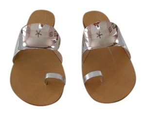 Giuseppe Zanotti Bold Design Made In Italy New Never Worn Silver Sandals