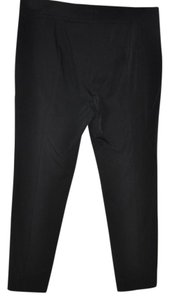Magaschoni Straight Leg Size 12 Trouser Pants Black