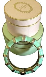 J.Crew J Crew hinge close green and gold enamel bangle bracelet