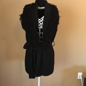 Twelfth St. by Cynthia Vincent Fringe Sweater Sleeveless Vest