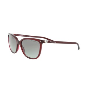 Tiffany & Co. New Tiffany Aria TF4105 Cabochon Crystalls Burgundy Red Sunglasses