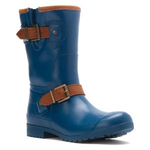 Sperry Walker Fog Short Rain Blue Boots