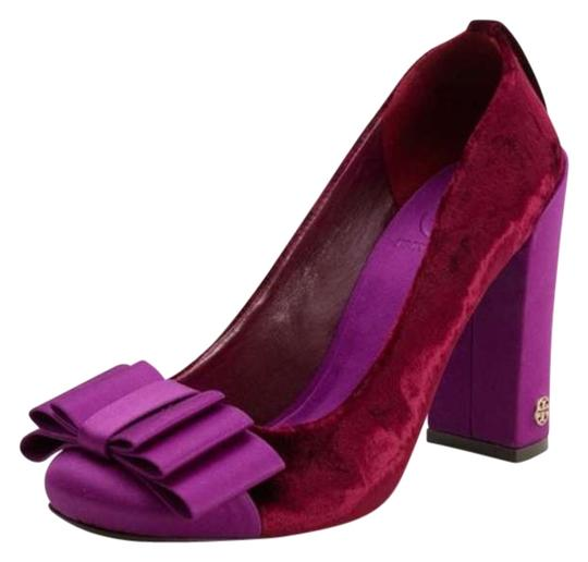Tory Burch Cicely Velvet Dark purple Pumps
