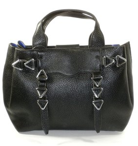 Rebecca Minkoff Leather Silver Satchel in black