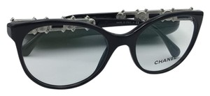 Chanel Black Cat Eye Bijou Chanel Eyeglasses 3327-H-B c.501 52