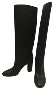 Lanvin Knee High Boot Leather Black Boots