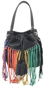 Rebecca Minkoff Fringe Bucket Silver Shoulder Bag