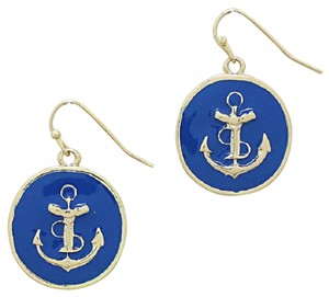 Other Nautical Anchor Disc Drop Earring