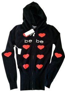 bebe Red Hearts Swarovski Crystals Hoodie Jacket