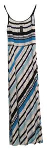 Blue/Black/White Maxi Dress by White House | Black Market