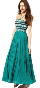 GREEN Maxi Dress by French Connection Embroidered Maxi