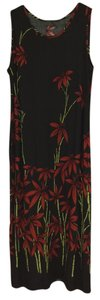 Black and Red Maxi Dress by Connection 18 100% Rayon