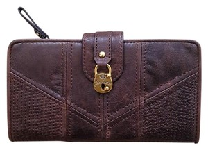 Juicy Couture Choco Brown Leather Clutch