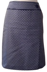 Ann Taylor Skirt Blue black and white