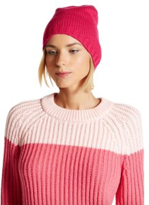 Kate Spade NWT KATE SPADE GATHERED BOW BEANIE HAT CAP SWEETHEART PINK ONE SIZE