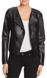 Guess Faux Leather Leather jet black Leather Jacket