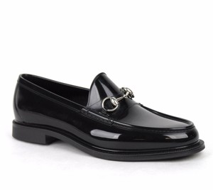 Gucci New Gucci Men's Rubber Loafer Shoes W/horsebit Detail Black Gucci 9/ Us 9.5 274962 1000