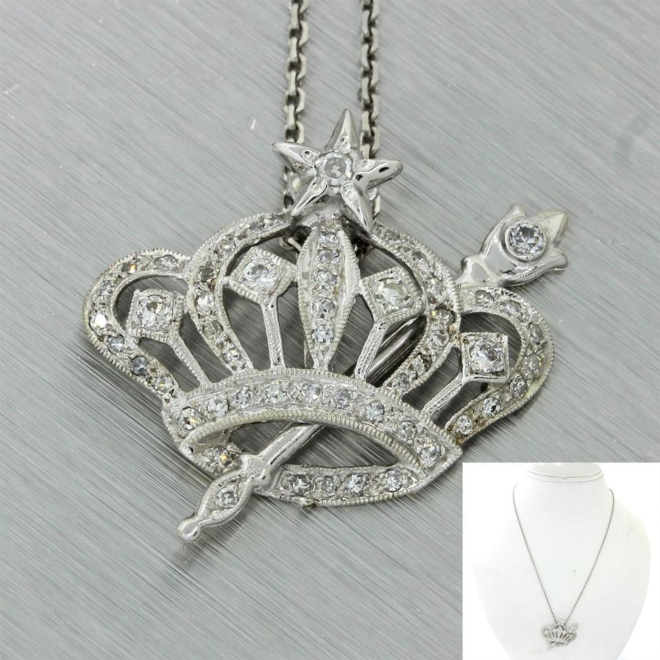 pendant jewelry diamonds crown with in tiny sterling silver teeny