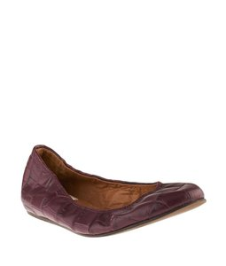 Lanvin Burgundy Red Flats
