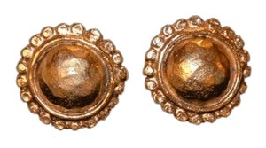 Chanel Chanel Gold Tone Clip on Earrings