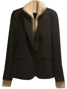Veronica Beard Green Herringbone Tweed Blazer