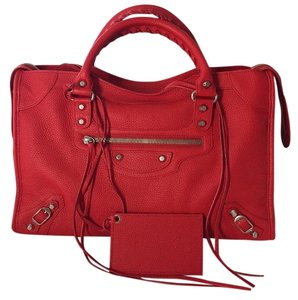 Balenciaga City Red Satchel