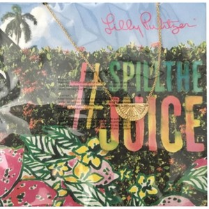 Lilly Pulitzer Lilly Pulitzer Spill The Juice Gold Necklace