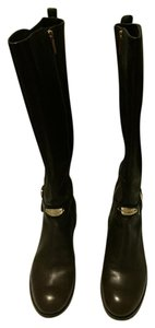 Michael Kors Riding Gold Leather Brown Boots