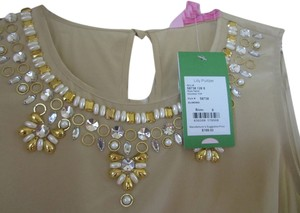 Lilly Pulitzer Top Almond Gold